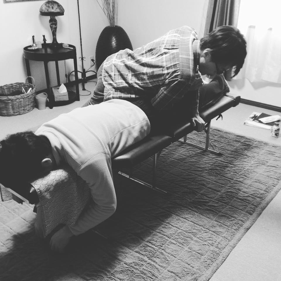 整体授業・肘頭圧法写真